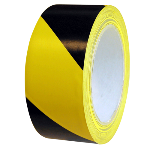 Line Marking Tape 33m  [Colour:Black/Yellow] [Width:24mm]